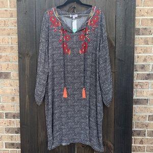 Stitch Fix THML Joey Embroidery Detail Dress 2X